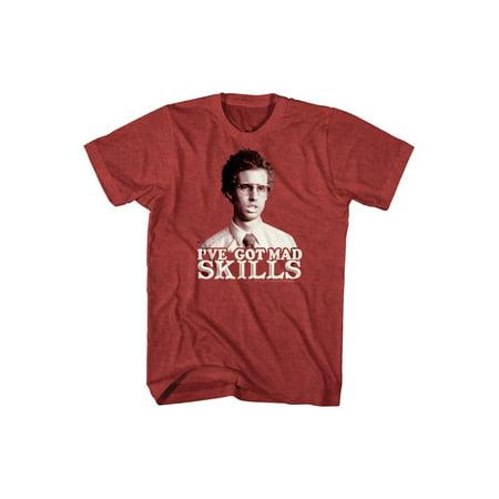 Napoleon Dynamite Comedy Movie Mad Skills Red Heather Adult T-Shirt Tee - Napoleon Dynamite Costume