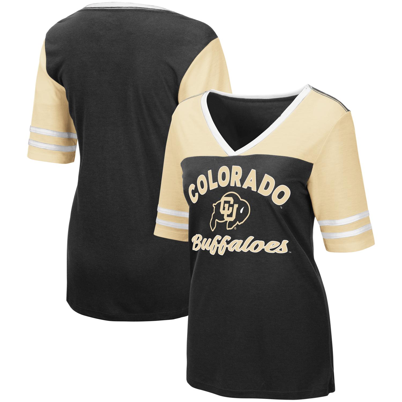 "Texas Tech Red Raiders Women/'s NCAA /""Big Sweet/'/"" Dual Blend V-neck T-Shirt"