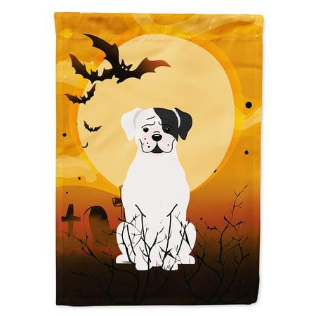 Boxer Halloween (Halloween White Boxer Cooper Flag Canvas House)