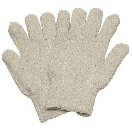 Condor  3AT17 Men's L White Polyester/Cotton Heat Resistant Gloves