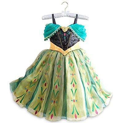 disney store frozen princess anna deluxe coronation costume: size 7/8 - Anna Deluxe Costume