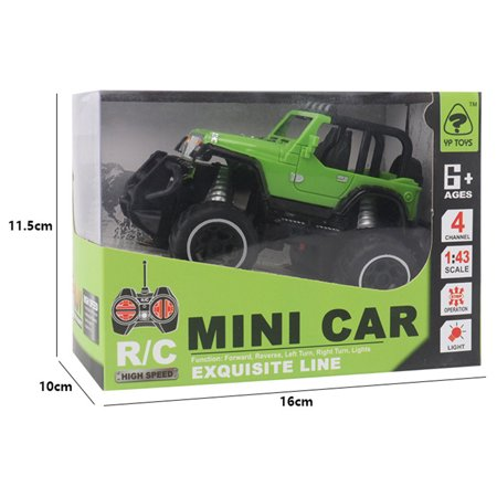 1:43 Mini RC Off-road Cars 4 Channels Electric Vehicle Model Toys as Gifts for Kids Color:blue - image 3 de 5
