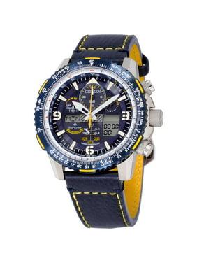 Citizen Men's Promaster Skyhawk A-T Blue Dial Leather Strap Watch JY8078-01L