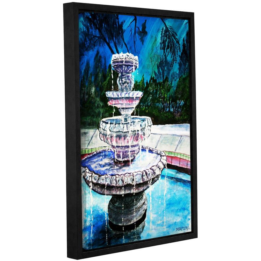 """ArtWall Derek Mccrea """"Water Fountain"""" Gallery-wrapped Floater-framed Canvas by ArtWall"""