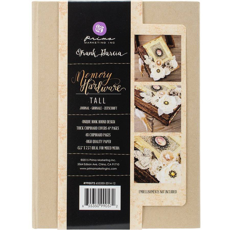 "Memory Hardware Chipboard Journal, 5.5"" x 7.5"", Tall Kraft, 6 Pages"