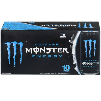 Monster Lo-Carb Energy Drink, 16 Fl Oz, 10 Count