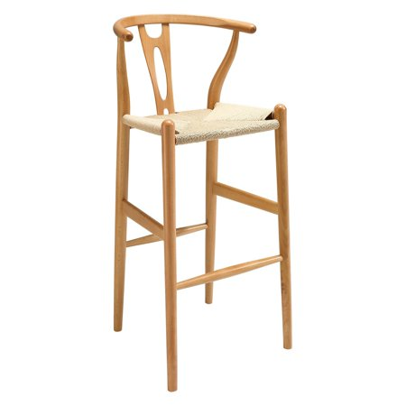 Amish Maple Bar Stool - Modway Amish Bar Stool in Beech Wood Frame, Multiple Colors