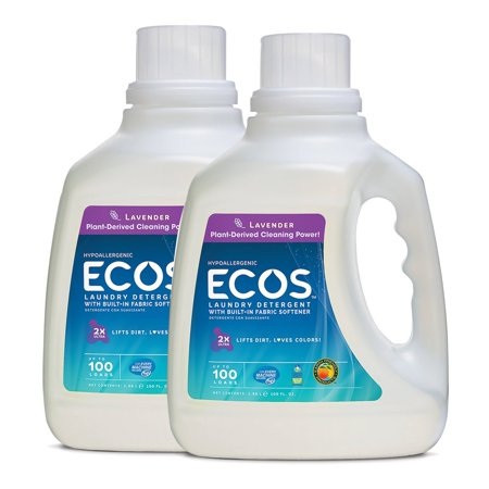 Earth Friendly Products ECOS 2X Hypoallergenic Liquid Laundry Detergent, Lavender, 200 Loads (2 Pack, 100 Ounce ea) Earth Friendly Products Ecos Laundry