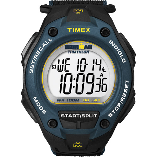 Timex Men's Ironman Classic 30 Oversized Watch, Black Fast Wrap Velcro Strap