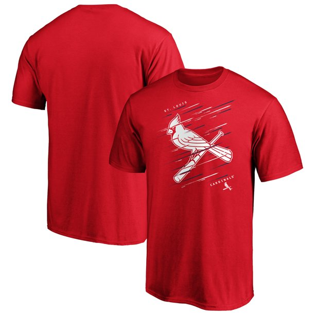 Men's Fanatics Branded Red St. Louis Cardinals Team Streak T-Shirt