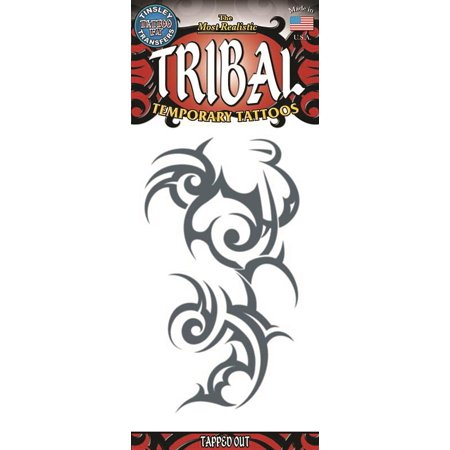 Tinsley Transfers Tapped Out Tribal Temporary Tattoo FX, Black ()
