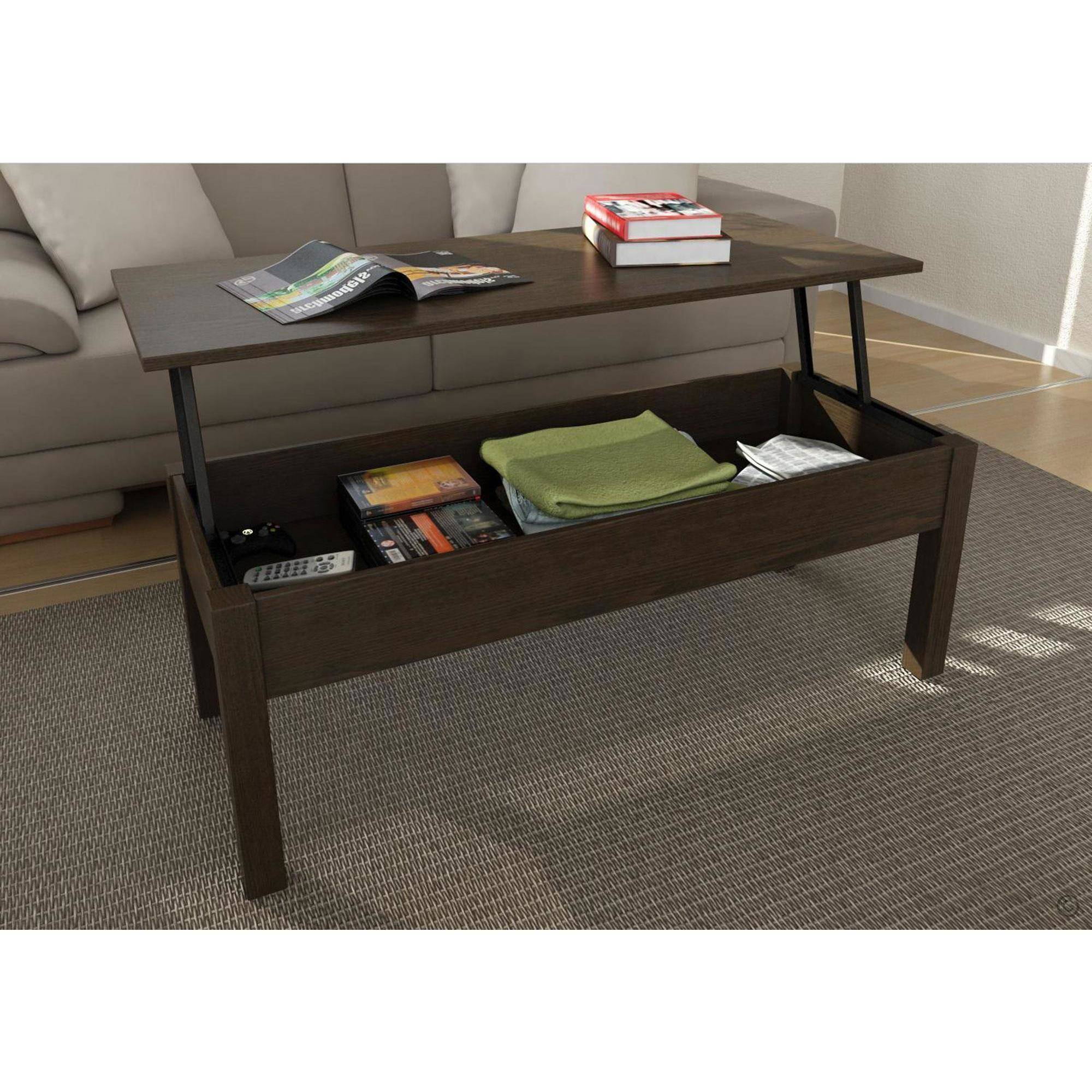mainstays lift-top coffee table, multiple colors - walmart