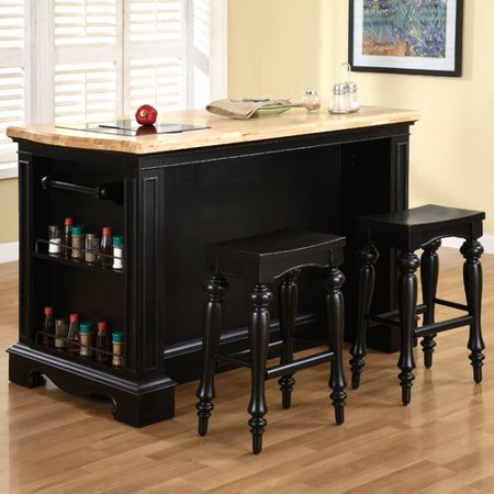 Powell Furniture Pennfield Kitchen Island Set - Walmart.com