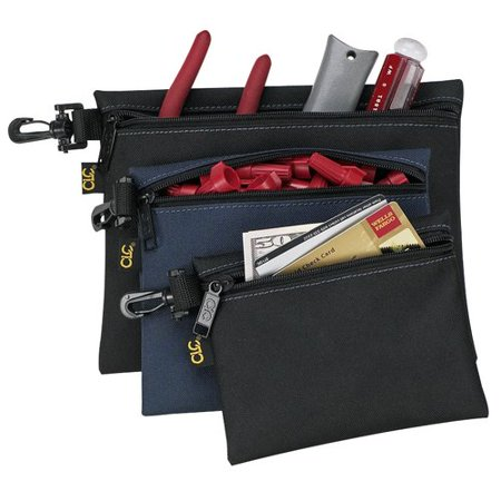 Custom Leathercraft 1100 3 Multipurpose Clip On Zippered Bags Set