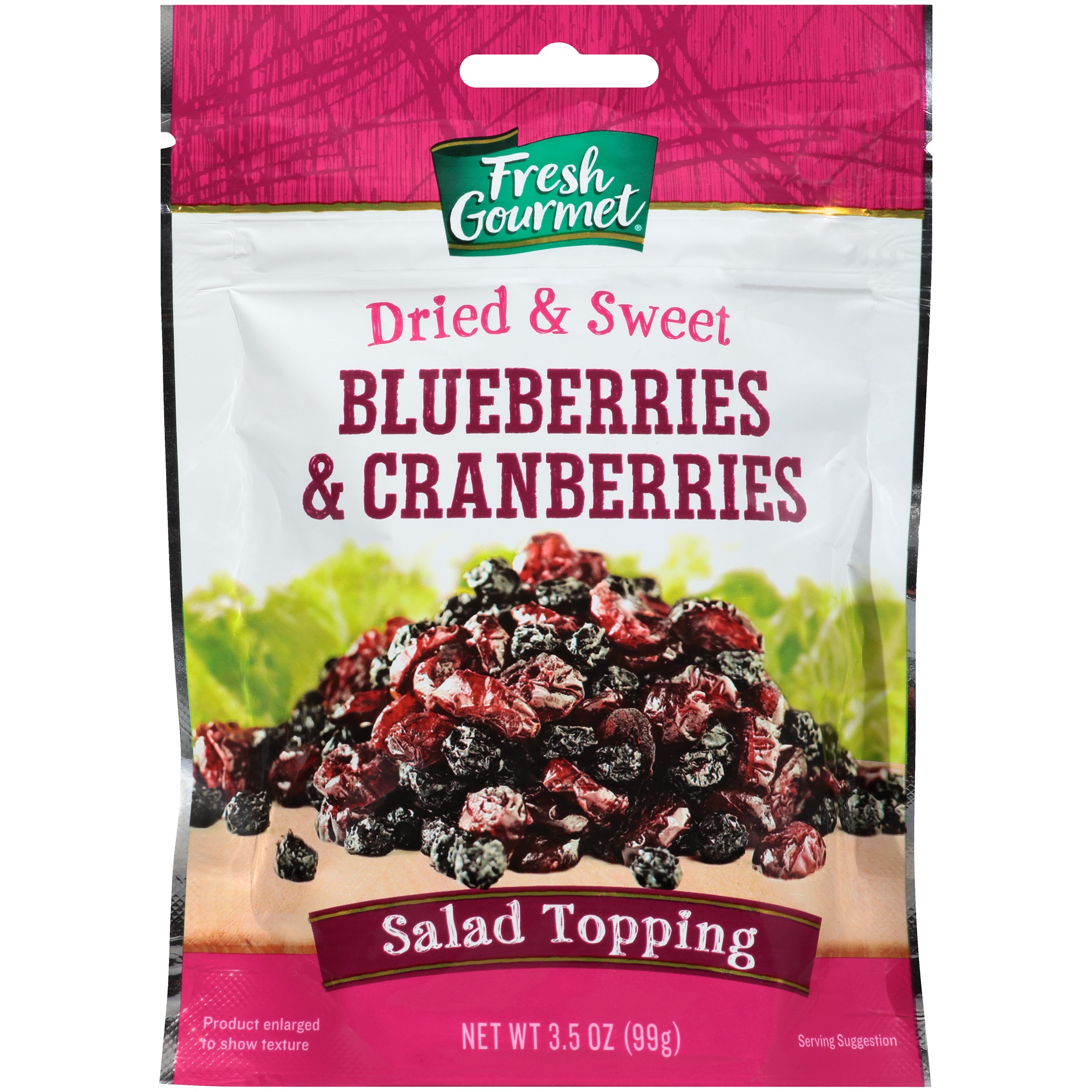 Fresh Gourmet® Dried Blueberries & Cranberries 3.5 oz. Pouch