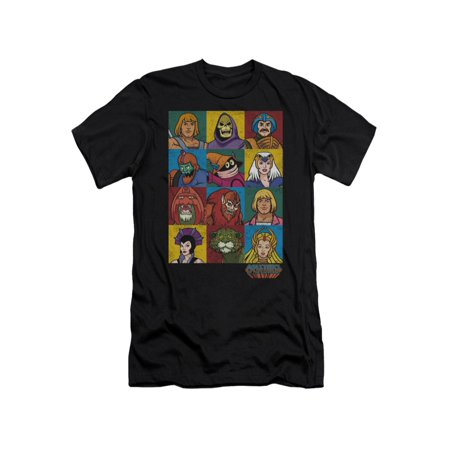 Masters Of The Universe Animated TV Series Character Blocks Adult Slim T-Shirt ()