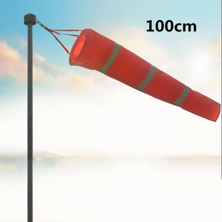 39'' Nylon Rip-stop Windsock Wind Measurement Bag Outdoor Banner Flag with Reflective Belt (Stand Not Include) (Bag In The Wind)