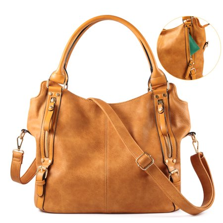 Plambag - Plambag Women Faux Leather Hobo Handbag Large Tote Purse -  Walmart.com e3b3461a7990f