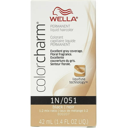 Wella Color Charm Liquid Haircolor 1n/51 Black, 1.4 Oz