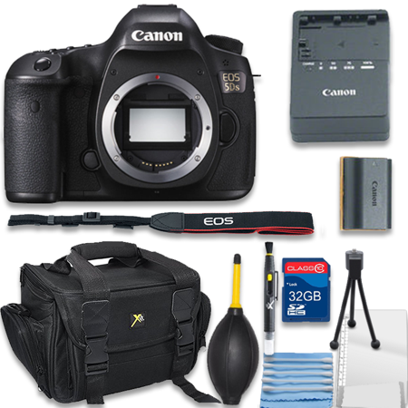 99a2fe45b51f Canon EOS 5DS R 5DSR Digital SLR Camera Body Only Bundle includes Camera,  32GB Memory Card, Bag, Cleaning Kit