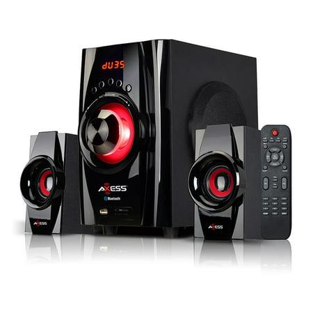 Mini Bluetooth Entertainment System w/ FM Radio, USB, SD, AV Input, and Remote - Red (Mind System)