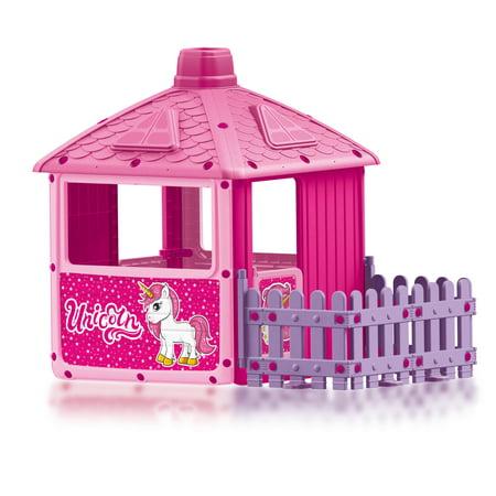 DOLU Toys – Unicorn Play House With Fenced Garden