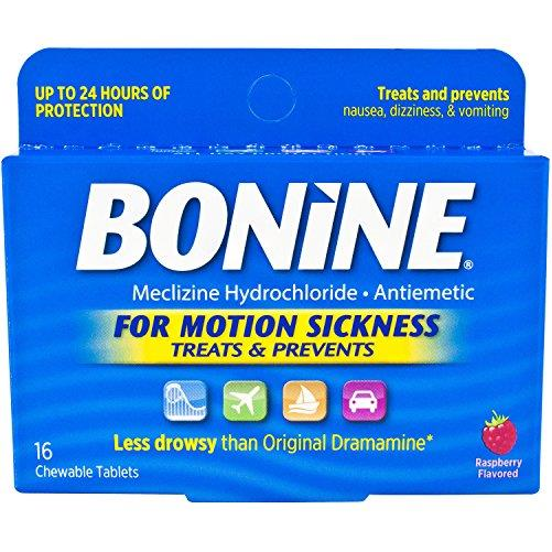 Bonine Motion Sickness Protection Chewable Tablets 16 tablets nausea (4 Pack)