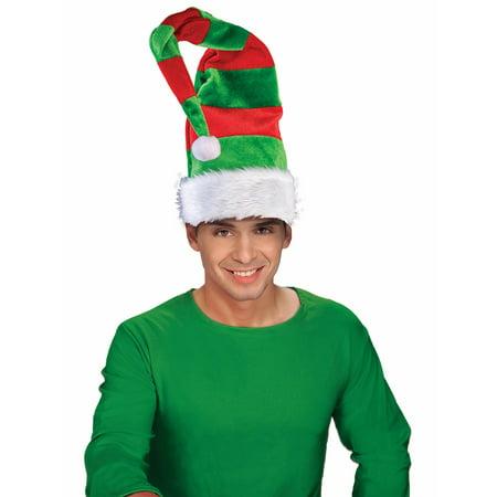 Long Bendable Striped Elf Hat - Kids Elf Hat