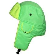 Best Winter Hats Big Kids Lightweight Neon Russian/Trooper Faux Fur Hat (One Size) - Green