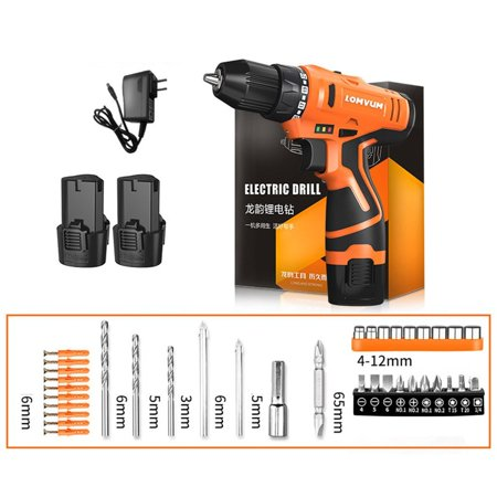 LOMVUM 12V Two Speed Electric Drill Multifunction Handheld Screwdriver Drill - image 4 of 4