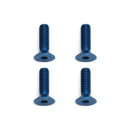 NEW Team Associated 8571 M4 X 14mm Fhcs Blue Aluminum Screws (4) ASC8571 Team Associated Screws