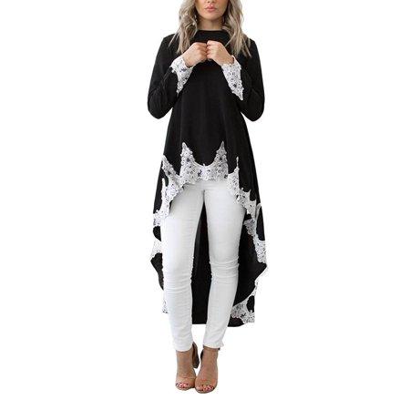 1cf7faea9c3ff5 JustVH - JustVH Women's High Low Casual Long Maxi Tunic Tops Sweatshirt  Shirtdress - Walmart.com