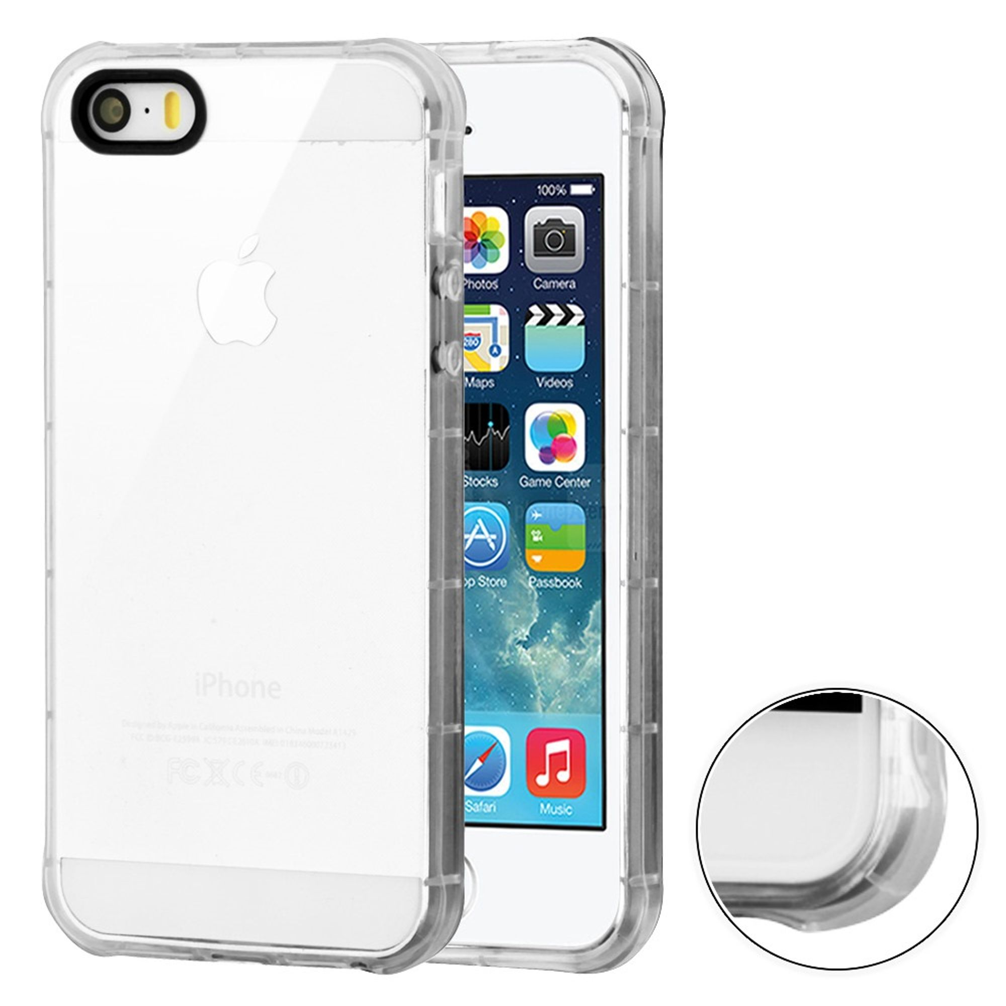 iPhone SE Case Clear, by MyBat TPU Rubber Candy Skin Case Cover for Apple iPhone 5/5S/SE - Clear