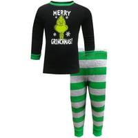 Dr. Seuss Toddler & Boys The Grinch  Merry Grinchmas Christmas Pajama Set 2T