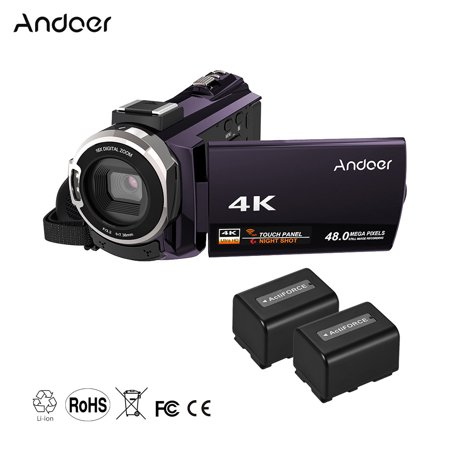 Digital 3 Chip (Andoer 4K 1080P 48MP WiFi Digital Video Camera Camcorder Recorder with 2pcs Rechargeable Batteries Novatek 96660 Chip 3inch Touchscreen IR Infrared Night Sight 16X Zoom Cold Shoe)