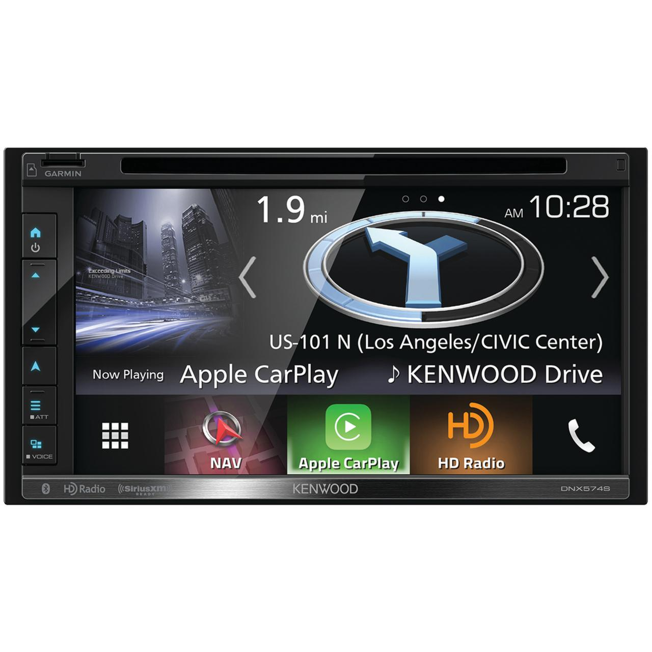 "Kenwood DNX574S 6.8"" Double-Din In-Dash Navigation DVD Receiver With Bluetooth, Apple Carplay, Android Auto, HD Radio & SiriusXM Ready"