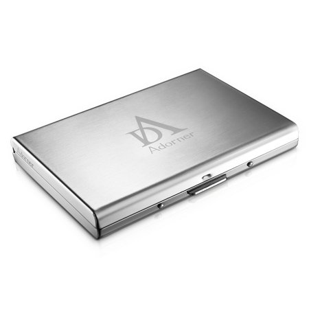 Adorner Latest Rfid Blocking Stainless Steel Wallet Credit Card Holder With Six Card Slots For Men   Women