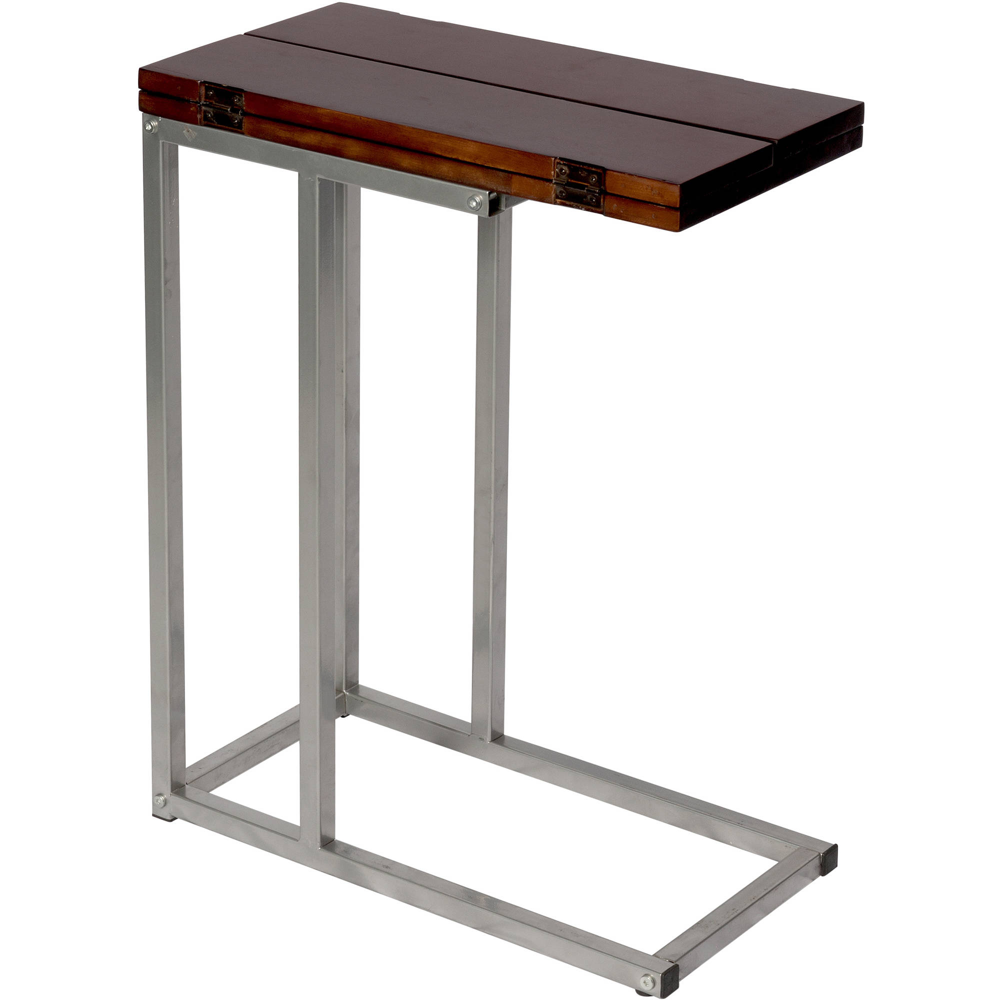 Bay Shore Collection Expandable Modern Side Table  Espresso   Walmart com. Bay Shore Collection Expandable Modern Side Table  Espresso