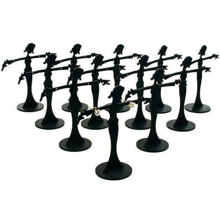 12 Black Metal Earring Dancer Jewelry Showcase Display Stands 2.5""