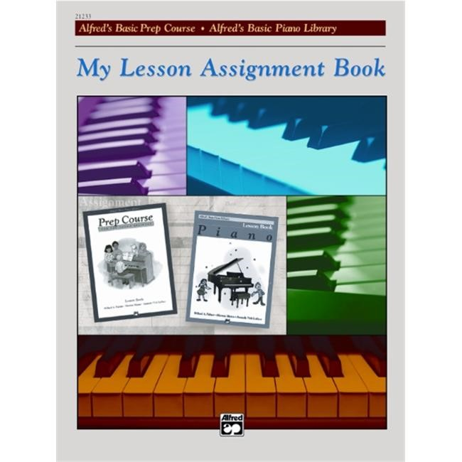 Alfred 00-21233 My Lesson Assignment Book - Music Book