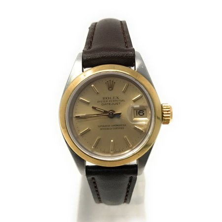 Datejust 6916 Champagne Stick dial and a Yellow Gold Smooth Bezel (Certified Pre-Owned)
