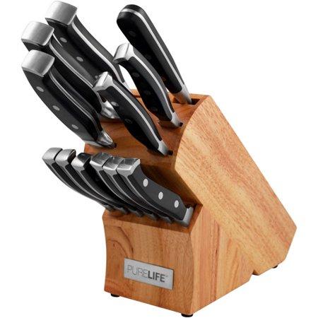 PureLife 12-Piece Knife Block Set