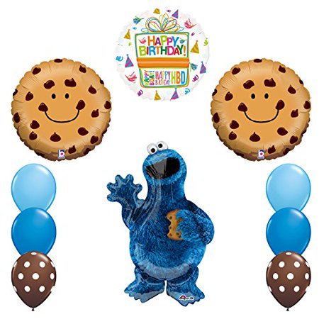 NEW! Sesame Street Cookie Monsters Birthday party supplies - Cookie Monster Party Ideas