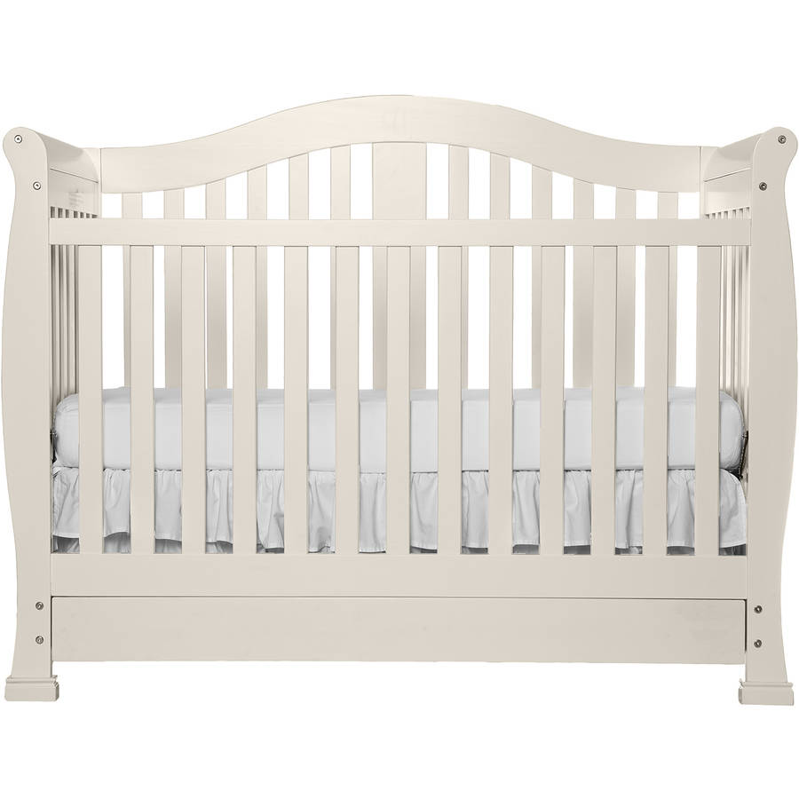 Delicieux Dream On Me Addison 5 In 1 Convertible Crib With Storage Drawer, French  White