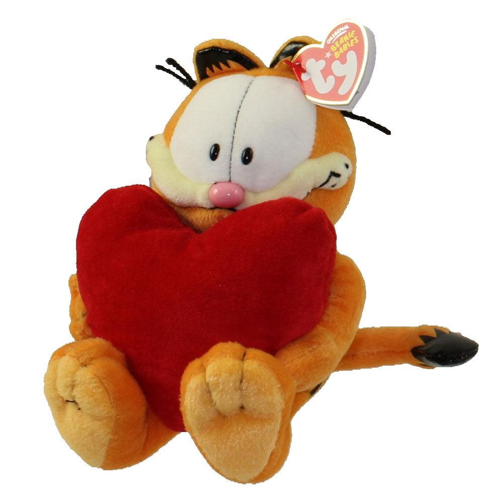 TY Beanie Baby - GARFIELD the Cat (w/ HEART) (9.5 inch)