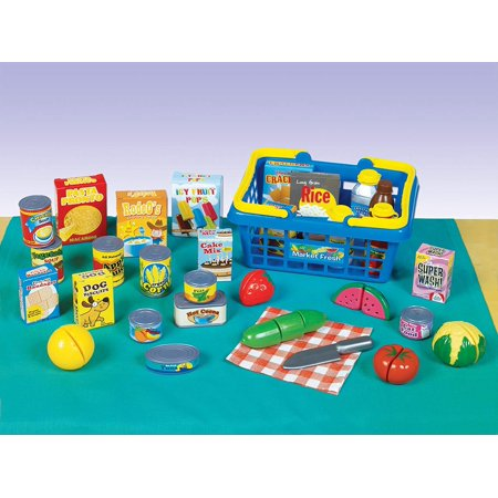 Living -Get to the Grocer Shopping Basket Playset, Empower your children through creative role play with Small World Living toys By Small World