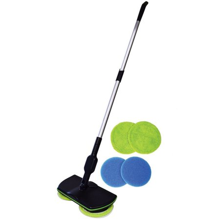 Cordless Electric Mop - 3 in 1 Spinner, Scrubber and Waxer Quiet and Powerful Cleaner, Spin Scrubber & Buffer, Polisher for Hard Wood, Tile, Vinyl, Marble And Laminate Floor