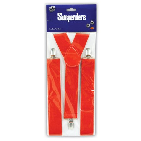 Club Pack of 12 Red Roaring 20's Themed Adjustable Suspender Costume Accessories