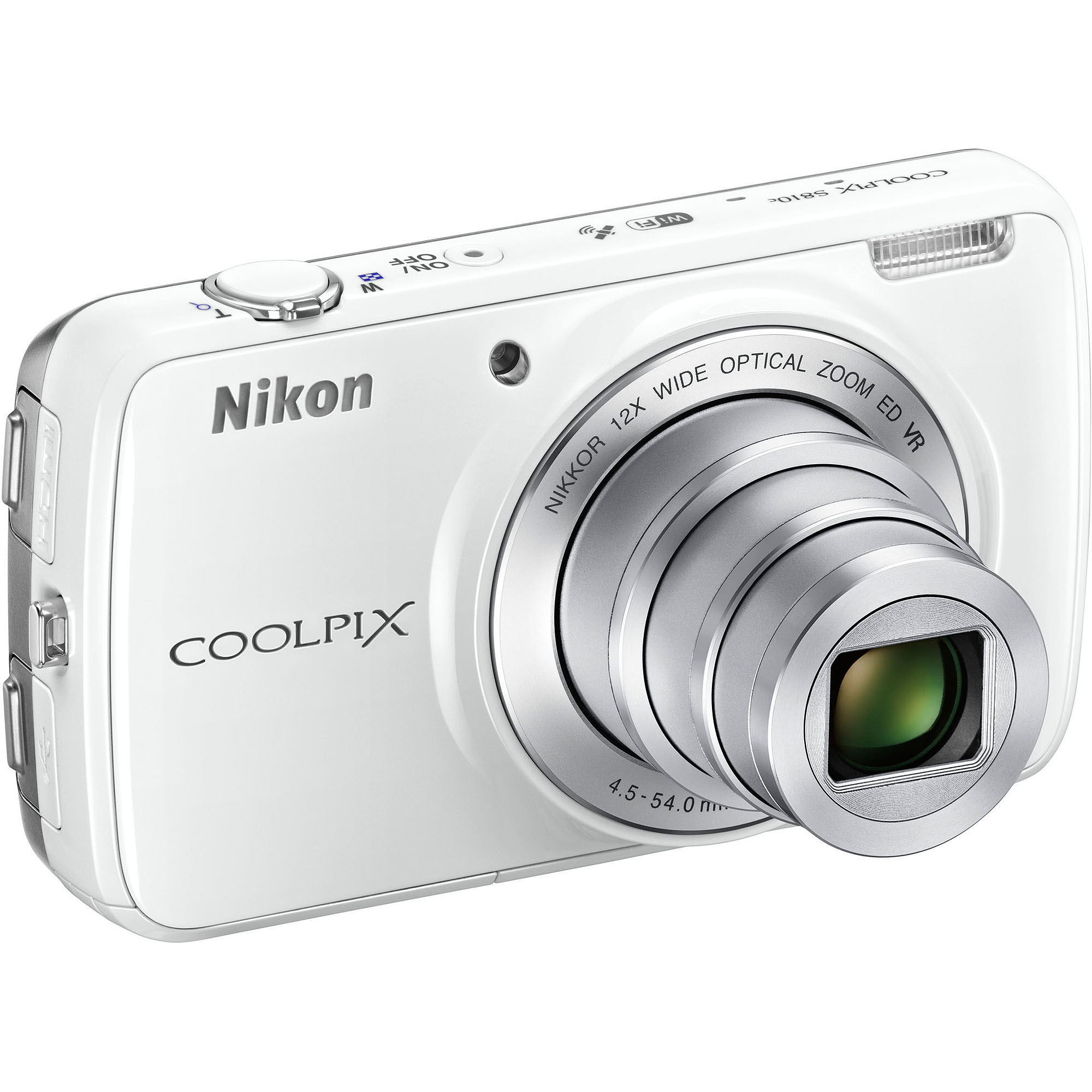 Nikon White COOLPIX S810C Digital Camera with 16 Megapixels and 12x Optical Zoom