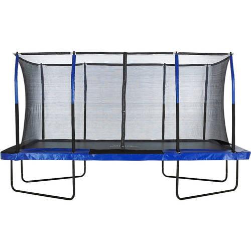 Upper Bounce Rectangle 8 x 14 Foot Trampoline, Blue